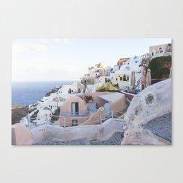Dusk in Santorini, Greece Canvas Print