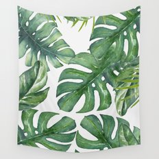 Monstera Leaves Wall Tapestry