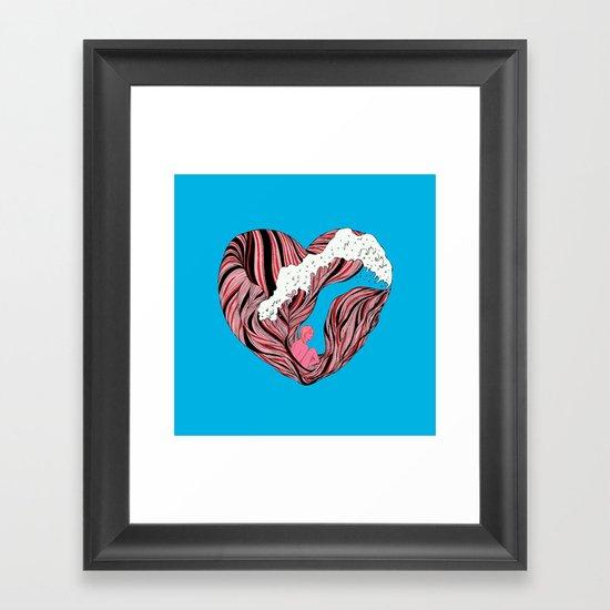 Ocean Heart Framed Art Print