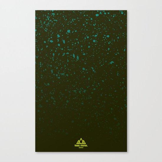 Trail Status / Green Canvas Print