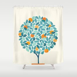 Tropical Mango Tree Shower Curtain