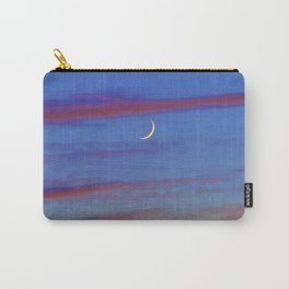 Crescent Moon at Sunset Carry-All Pouch