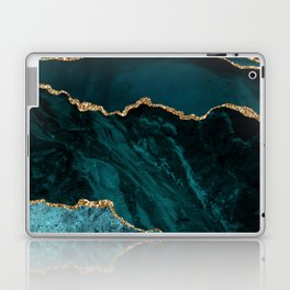 Teal Blue Emerald Marble Landscapes Laptop & iPad Skin