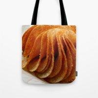 potato Tote Bags featuring Potato Chips by Guna Andersone & Mario Raats - G&M Studi