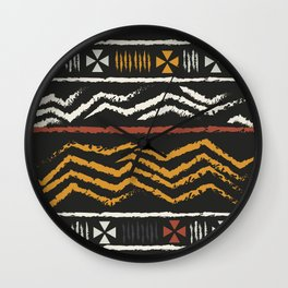 African Tribal Pattern No. 84 Wall Clock