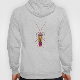 Colorful Bugs Pattern on Pink Hoody