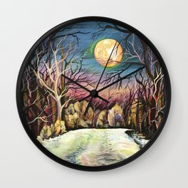 Silent night in Sweden Wall Clock