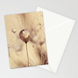 dandelion gold drop Stationery Cards