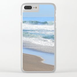 Baby Blue Ocean Clear iPhone Case