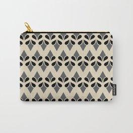 VANILLA - cream grey black art deco pattern design Carry-All Pouch