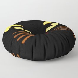 Black Cat at Night Floor Pillow