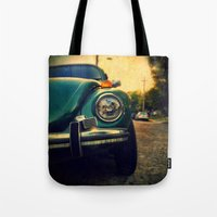 beetle Tote Bags featuring Beetle by Melissa Lund