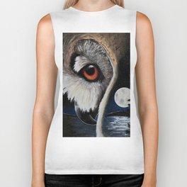 Eagle Owl - The Watcher - by LiliFlore Biker Tank