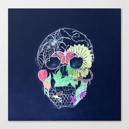 Chalk Art Skull Canvas Print