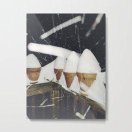 Snow Cones Metal Print