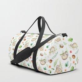 Tropical Sloths Pattern Duffle Bag