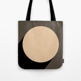 Beige Circle Tote Bag