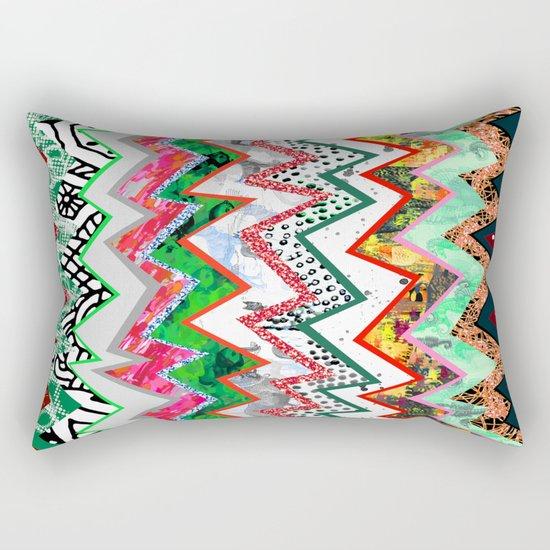 Candy Land Zigzags Rectangular Pillow