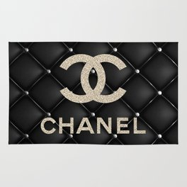 Glitter COCO Quilted Leather Rug