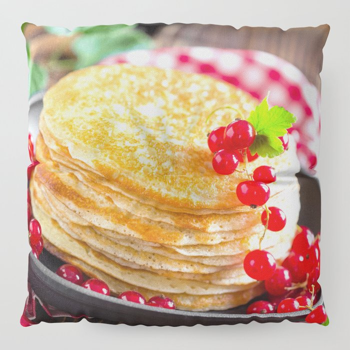 Pancake Floor Pillows: Sweet Pancakes With Jam Floor Pillow By Photo4you