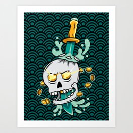 Treasure Skull Art Print