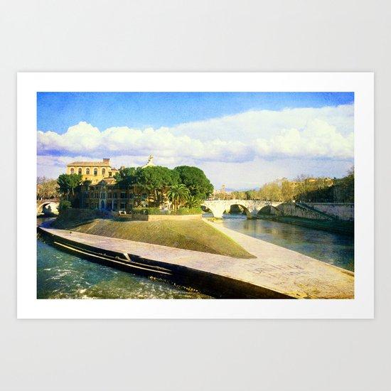 Isola Tiberina Art Print