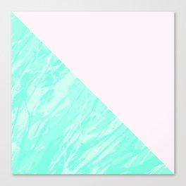 Green Marble Geometric Canvas Print