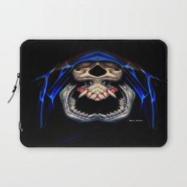 Blue Caped Skull Laptop Sleeve