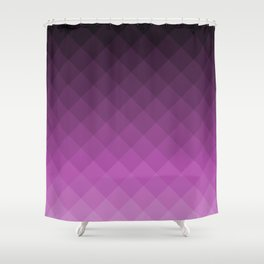 Ombre squares - Purple Shower Curtain