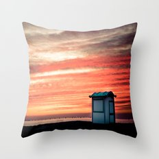 crimson skies Throw Pillow