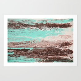 Tidal Shifts of Dawn and Dusk Art Print