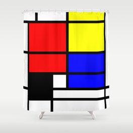 Mondrianista Shower Curtain