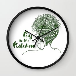 Peas in the Kitchen Wall Clock