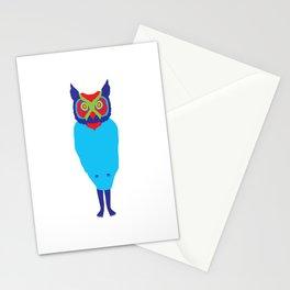 Animal Mardi Gras: Owl Stationery Cards