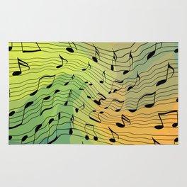 Music notes II Rug