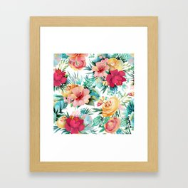 Bright and Bold Flowers Framed Art Print