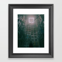 SQUARE HALO (everyday 01.19.18) Framed Art Print