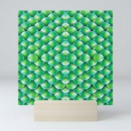 Lime Dragon or Green Mermaid Scales Mini Art Print
