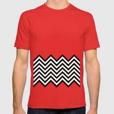 Black Lodge Dreams (Twin Peaks) Red Mens Fitted Tee LARGE