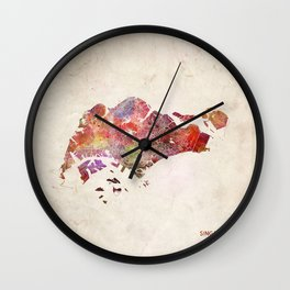 Singapore map Wall Clock