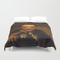 christopher walken Duvet Covers featuring Christopher Walken - replaceface by replaceface