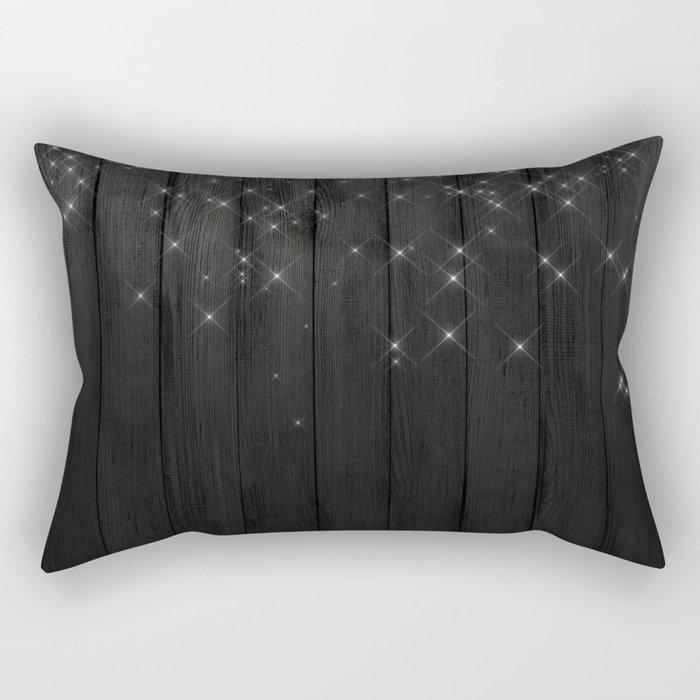 Fairy Lights on Wood 05 Rectangular Pillow