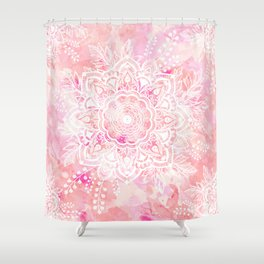 Queen Starring of Mandalas-Rose Shower Curtain