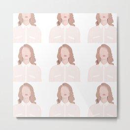 Minimalist Lana - Colour Metal Print