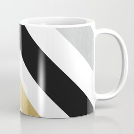 Minimalist Geometric - Black & Gold Coffee Mug
