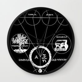 The Origins of Alchemy (white) Wall Clock