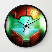 metroid Wall Clocks featuring Metroid by Joe Roberts