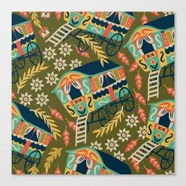 Gypsy Wagon Pattern Canvas Print