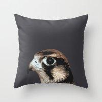 falcon Throw Pillows featuring falcon by Renad
