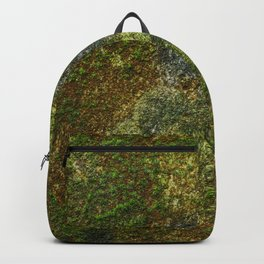 Old stone wall with moss Backpack